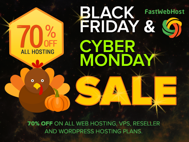 70% off on all Web Hosting, VPS, Reseller and WordPress Hosting plans.