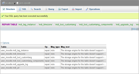 Brilliant Phpmyadmin Tutorial Repair And Optimize Database Best Image Libraries Counlowcountryjoecom