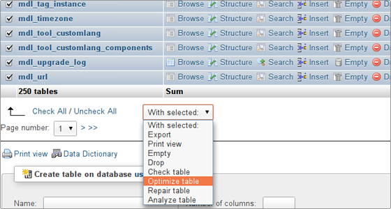 Awesome From The Drop Down Menu Pick The Optimize Table Option.