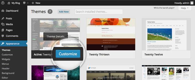 How To Customize Wordpress Themes Fastwebhost Tutorials