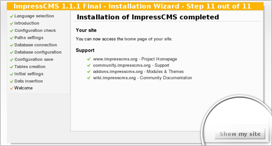 ImpressCMS Installation - FastWebHost Tutorials
