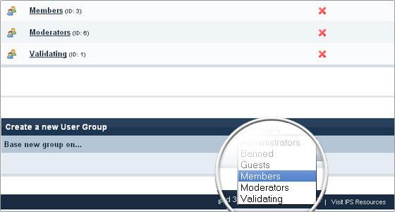 IPB User Groups - FastWebHost Tutorials