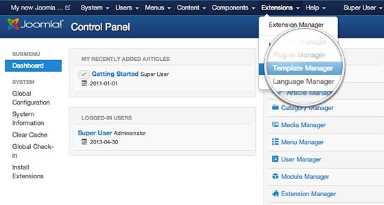 Install Joomla Templates - FastWebHost Tutorials